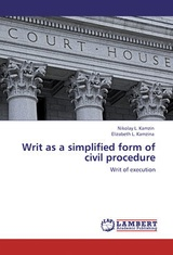 Writ as a simplified form of civil procedure. Writ of execution
