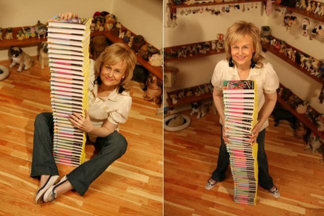 Дарья Донцова с книгами